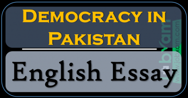 Democracy in Pakistan , Essay Outline