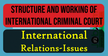 Structure and working of International Criminal Court , International Issues