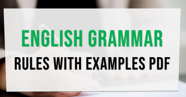 Basic English grammar rules with examples pdf