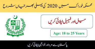 Multiple Jobs in Food Department 2020 | Apply Online