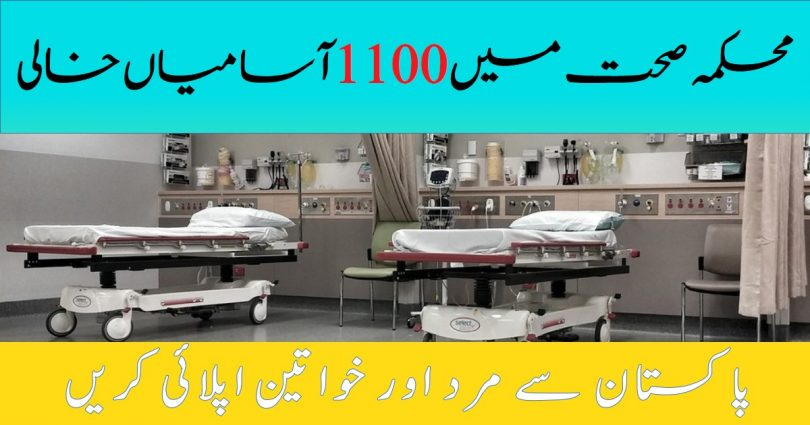 1100 Posts into Health Department 2020   Apply online