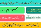 Agriculture Department Punjab Jobs 2020 | Apply online