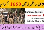 1650 Vacancies into Pakistan Rangers 2020 | Apply Online