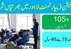 EDUCATION DEPARTMENT LAHORE LATEST JOBS 2020