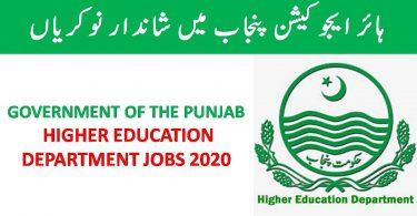 Higher Education Department Punjab Jobs 2020 | Apply online