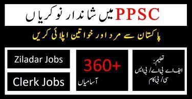 Ziladar & Clerk Punjab Public Service Commission Jobs 2020 | Apply Online